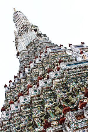 The Temple of Dawn, Wat Arun Bangkok, Thailand. Stock Photo