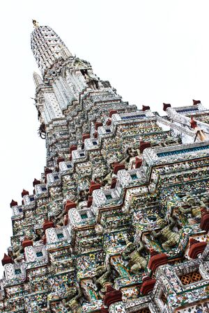 The Temple of Dawn, Wat Arun Bangkok, Thailand. Stock Photo