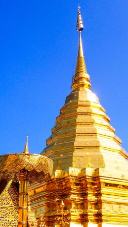 Gold temple of Chiangmai Thailand