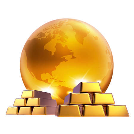 Gold marketing world bussiness Stock Photo - 8879836