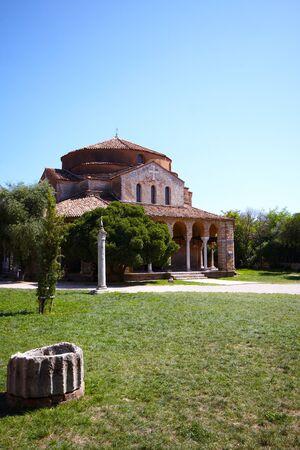 byzantium: Old Byzantium church at Torchello island, Venice, Italy   Stock Photo