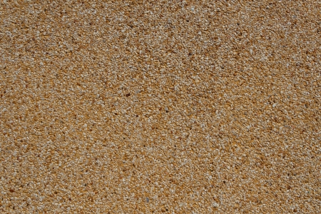 Tiny gravel texture on brown concrete wall in sunny day