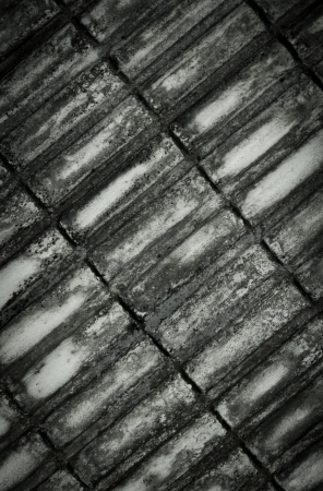 Dirty old corrugated concrete background, tilt pattern photo