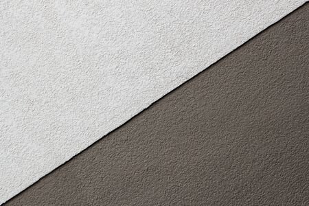 Two Tones Brown Texture on Concrete Wall, Triangle Shape Stock Photo - 17307770