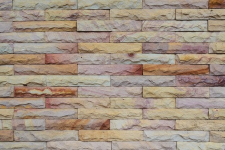 Sandstone Bricks Wall showing Natural Color and Texture, Horizontal Pattern Stock Photo - 19281668