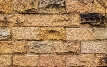 Old Brown Brick Wall, Texture and Background, Closeup  Stock Photo