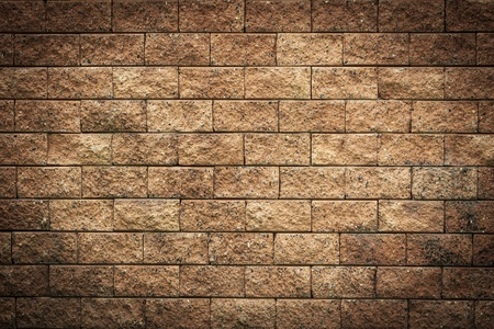 Old Brown Bricks Wall Background, Highlight