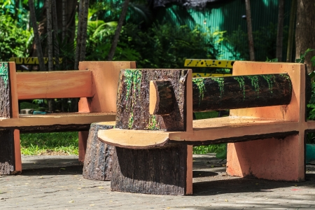 Backyard Patio Bench in Garden