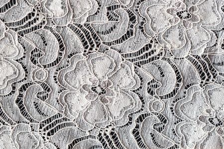 Lace with Flower Pattern on Black Background photo