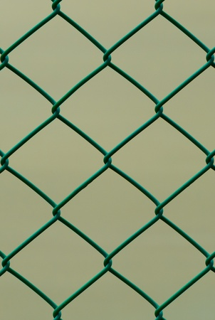 Green Wire Fence isolated on Brown Background photo