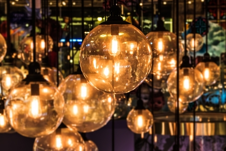 Lighting Decor, Close up with Blurred Background Stock Photo