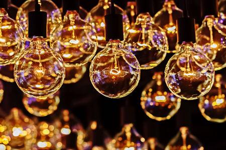 Retro Lighting Bulb Decor, Close up photo