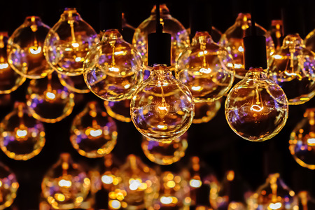 Retro Lighting Bulb Decor, Close up photo