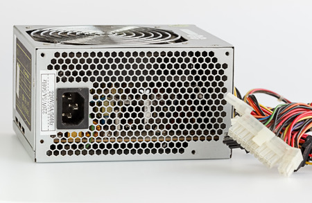 Dusty Computer Power Supply Unit, Close up