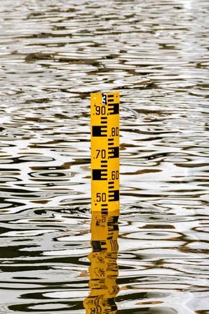 Water Level Personeel Gauge, Meten Water