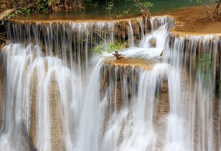 Huai Mae Kamin Waterfall in Kanchanaburi Province, Thailand photo