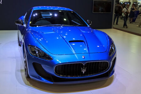 mc: BANGKOK - DECEMBER 6 : Maserati Granturismo MC Stradale car on display at The 31st Bangkok International Motor Expo on December 6, 2014 in Bangkok, Thailand.