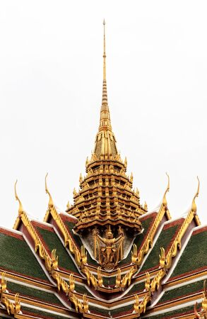 Golden Traditional Thai Temple Architecture