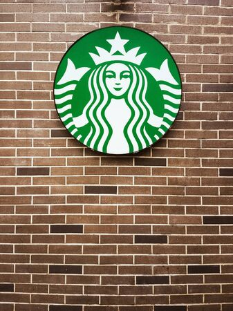 BANGKOK - JUNE 7: Starbucks sign is displayed at the facade of a Starbucks store, on June 7, 2016 in Bangkok, Thailand. Starbucks is the worlds largest coffee house which has more than 22,000 stores in 66 countries.
