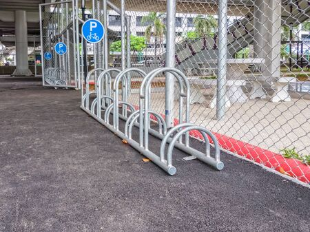 Bike Rack under Public Transportation Station