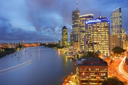 Brisbane by evening photo