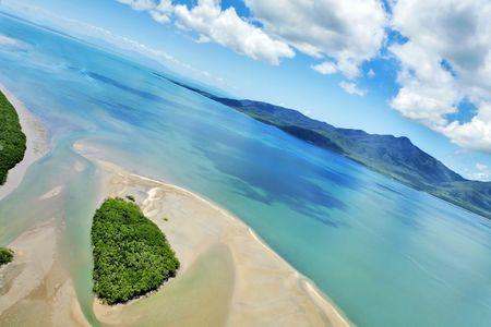 Tropical aerial landscape