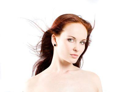 Headshot Roja encabezados de belleza