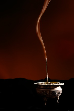 An incense burner in action Stock Photo - 1424877
