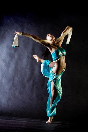 Dancing girl in Arabian costume