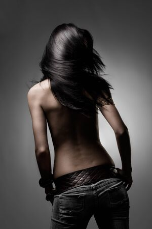 Beautiful hair from behind Stock Photo