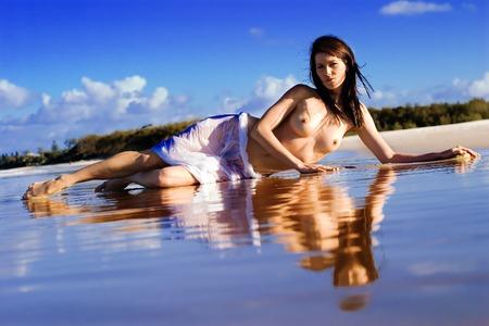 Beautiful woman  on the beach Stock Photo - 1675412