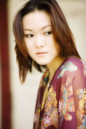 Beautiful Asian woman, head and shoulders portrait Stock Photo - 1888053