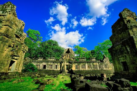Ruins of Asian Angkor temple in Cambodia Stock Photo - 2215217
