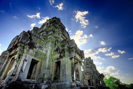 angkor: Ruins of Asian Angkor temple in Cambodia