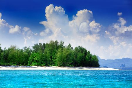 deserted: Tropical Asian island in sparkling blue water LANG_EVOIMAGES