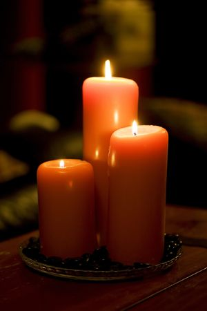 Cozy candlelight Stock Photo - 3083988