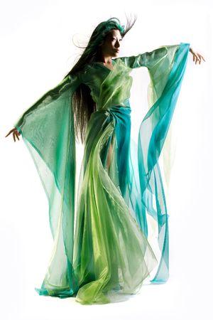 Chinese girl dressed in fantasy robe Stock Photo - 2966611