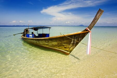 Long tailed boat in tropical Asian paradise (Thailand) Stock Photo - 2966626