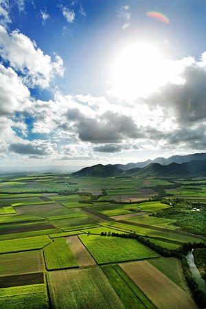 farmlands: Aerial shot of farmlands LANG_EVOIMAGES