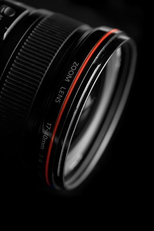 Professional SLR lens with brand name removed