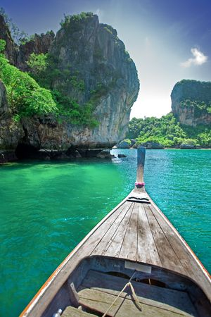 long tailed boat: Long tailed boat tour around Thailand Islands
