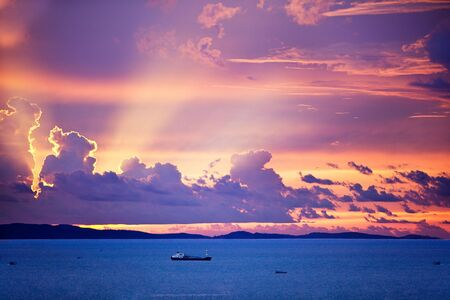 Blue ocean with beautiful sunset in background Stock Photo - 7216639