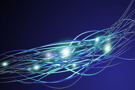 fiber cable: Abstract digitale illustraion lijkt op draden of fiber optics