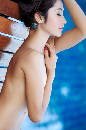 Beautiful Thai woman implied nude Stock Photo - 11866683