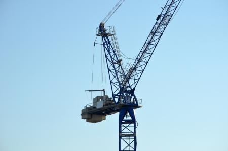 Port container crane photo