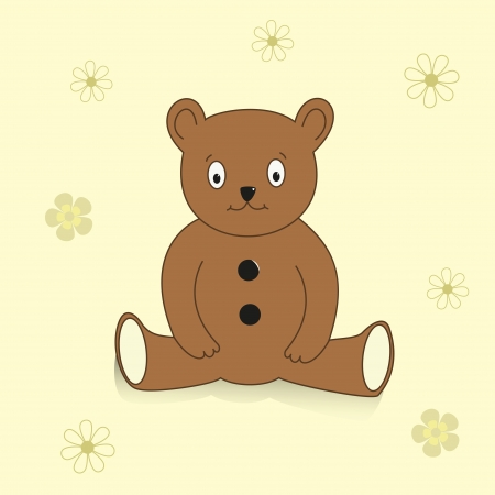 Brown vector teddy  Abstract illustration  Toy