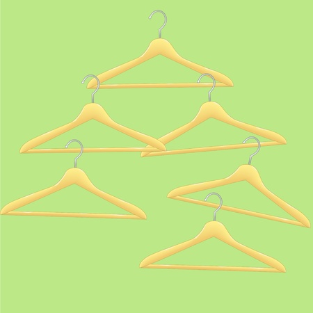 coathangers: Colorful vector coat-hangers  Abstract background  Illustration