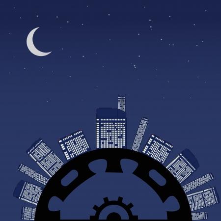 Night planet under stars. Abstract vector illustration. Stock Vector - 20329499