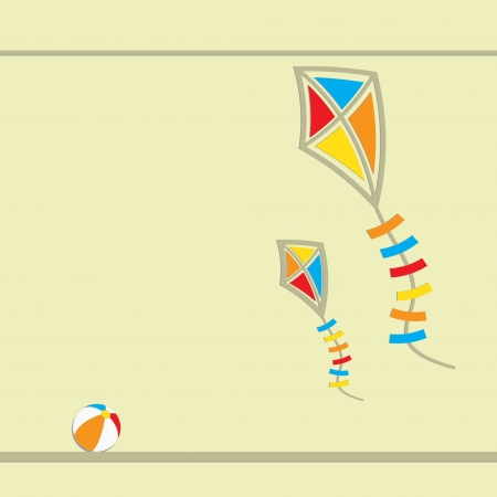 Two flying kites  Abstract vector illustration  Vector