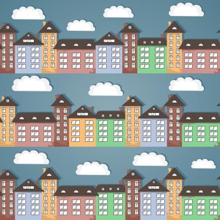 tile roof: Paper citt� seamless texture astratta sfondo